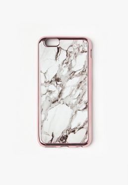 Coque d'iPhone 6 blanche effet marbré