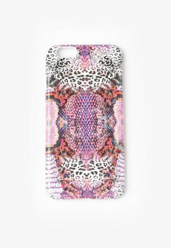 iphone 6 hlle mit schlangen leo muster in pink - Leo Muster