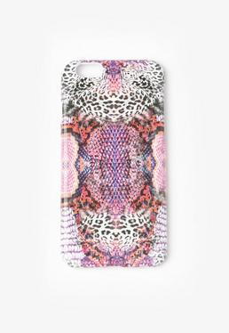 Pink Snake Print iPhone 6 Case