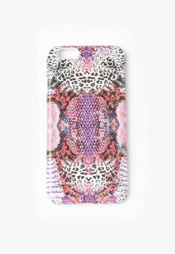 Pink Snake Print iPhone 6 Case