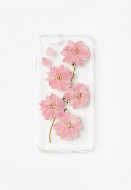 Transparent Trapped Flowers iPhone 6 Case