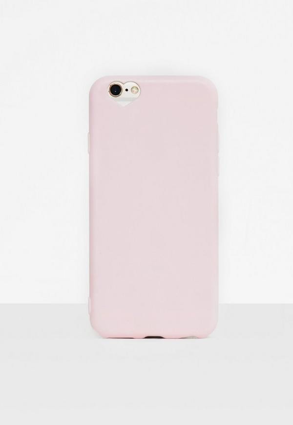 Pink Heart Cut Out iPhone 6/6S Case