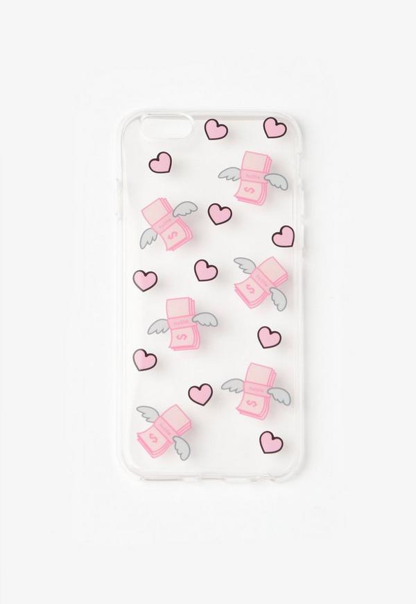 Pink Flying Dollar iPhone 7 Case