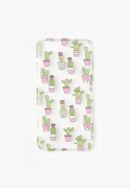 Green Mini Catcus Print iPhone 7 Case