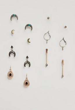 7 Pack Stud Earrings Set