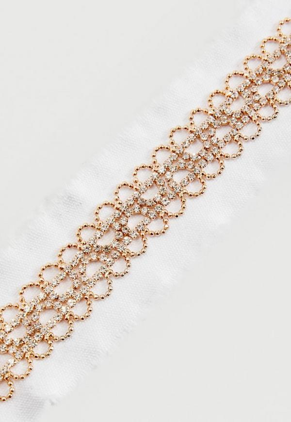 collier ras de cou blanc diamant missguided. Black Bedroom Furniture Sets. Home Design Ideas