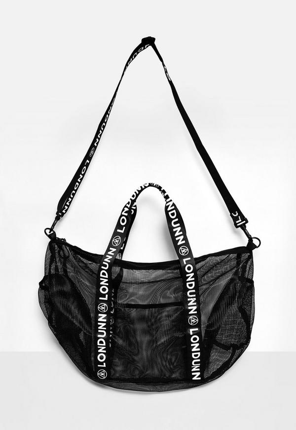 Londunn + Missguided Mesh Logo Gym Bag