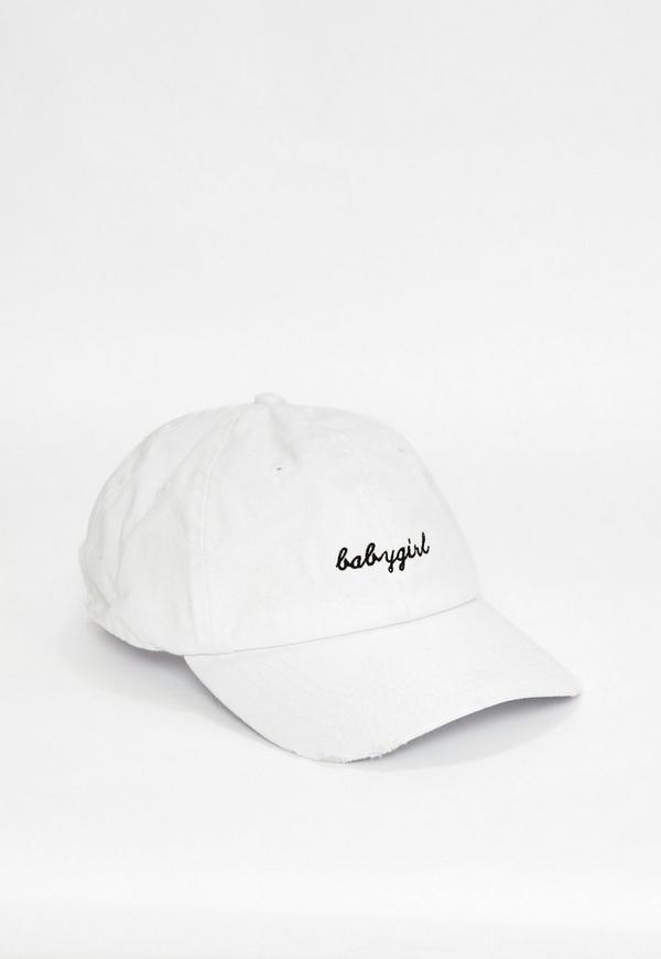 baby girl baseball cap tumblr hat white embroidered previous next