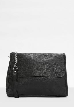 Black Chain Strap Shoulder Bag