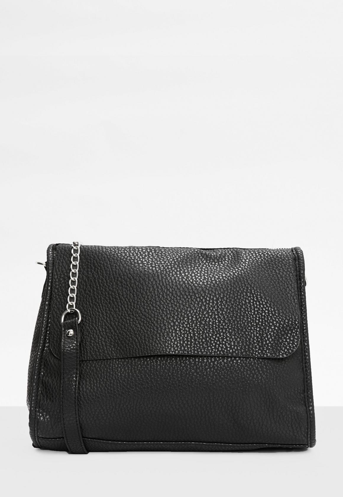 Black Chain Strap Shoulder Bag | Missguided