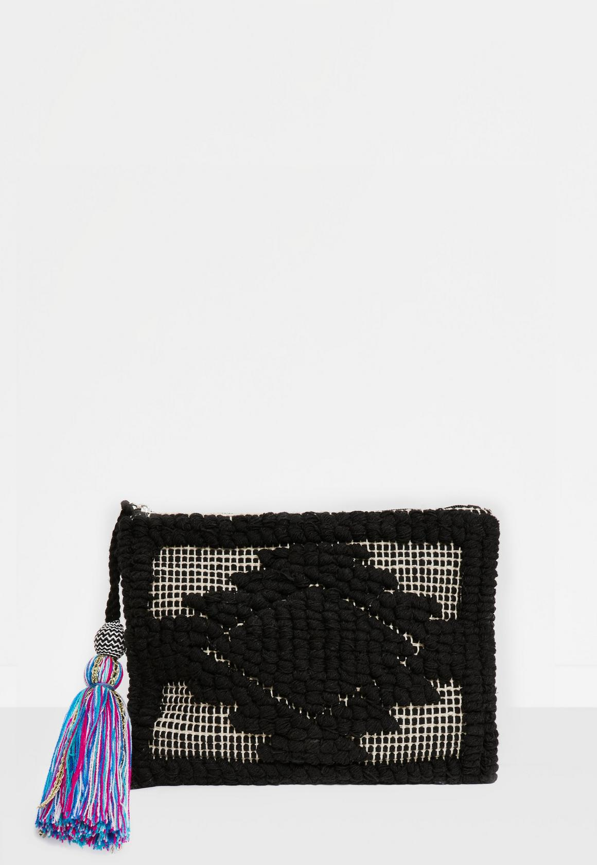 Clutch Bags - Black, White & Khaki | Missguided