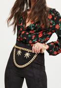 Gold Leaf Chain Waist Belt