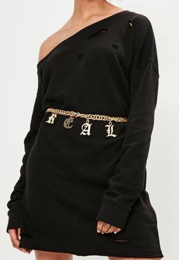 Gold Real Chain Waist Belt