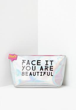 Beauty Junky Printed Beauty Bag