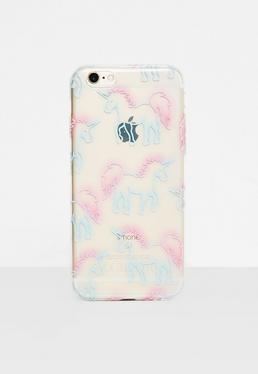 Clear Unicorn I Phone 6 Case