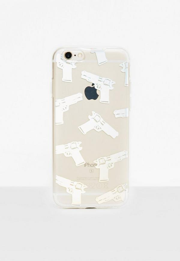 Clear Holographic Gun iPhone 6/6S Case