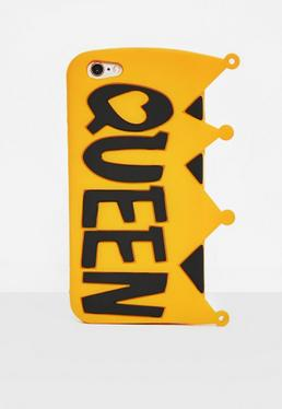 Yellow Silicone Queen Crown I Phone 6 Case