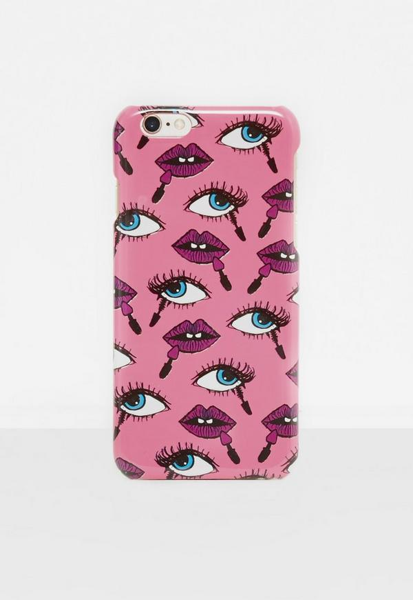 Pink Lips Printed iPhone 6/6S Case