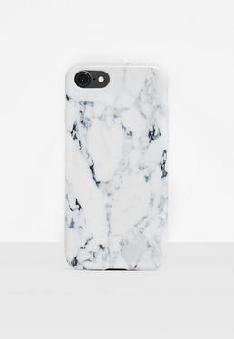 White Marble Print iPhone 7 Case