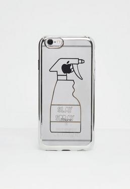 Transparente Slay Spray Slogan iPhone 6/6s Hülle