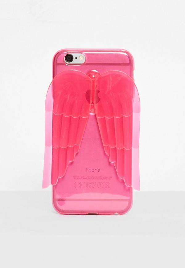 Pink Angel Wings I Phone 6 Case