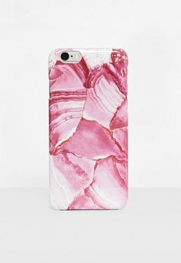 Pink Marble Effect I Phone 6 Case