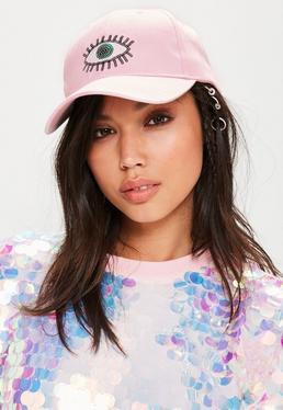 Pink Sequin Eye Cap