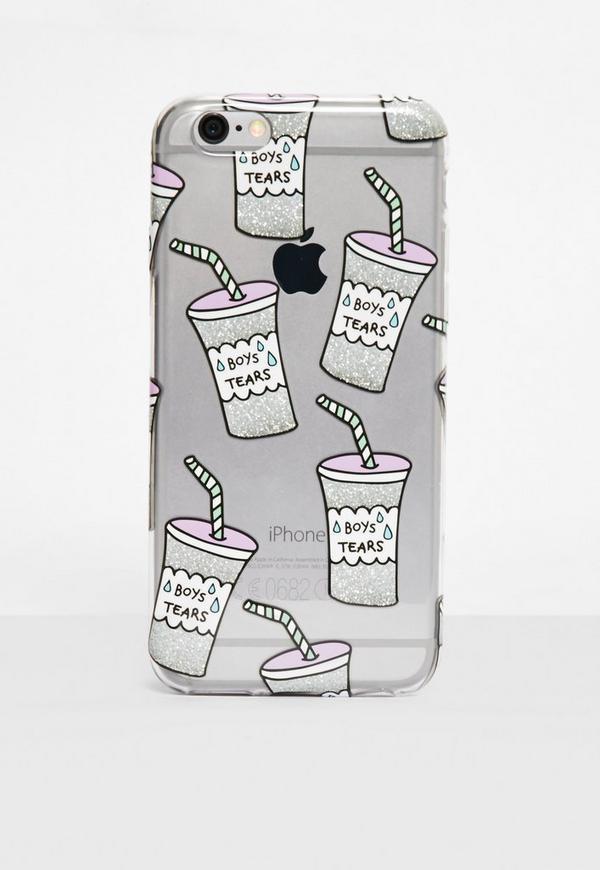 Clear Boy Tears iPhone 6 +/6S + Case