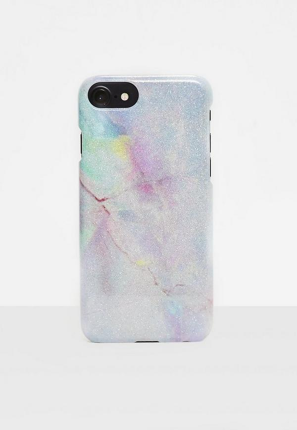 Pink Multi Holographic Marble I Phone 7 Case