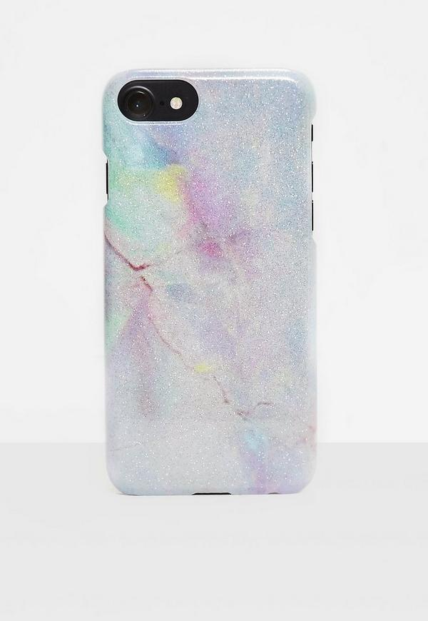 iPhone 6 Plus/6S Plus Hülle in Holo Gitzer-Marmor   Missguided