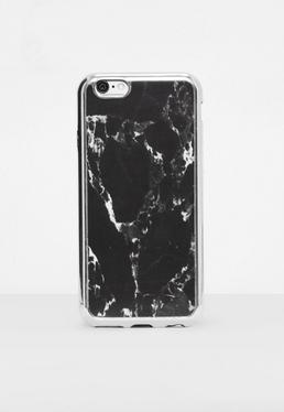 Coque pour iPhone 7 noire marbrée