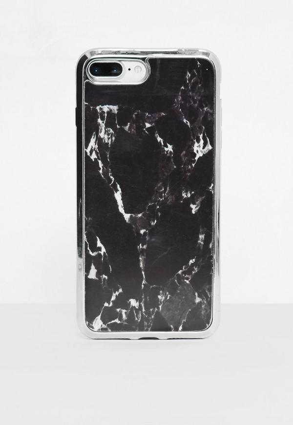 Black Marble I Phone 7+ Case