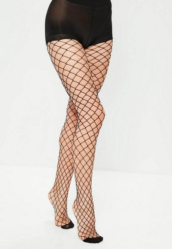 Black diamond shaped fishnet pantyhose missguided for Fish net tights