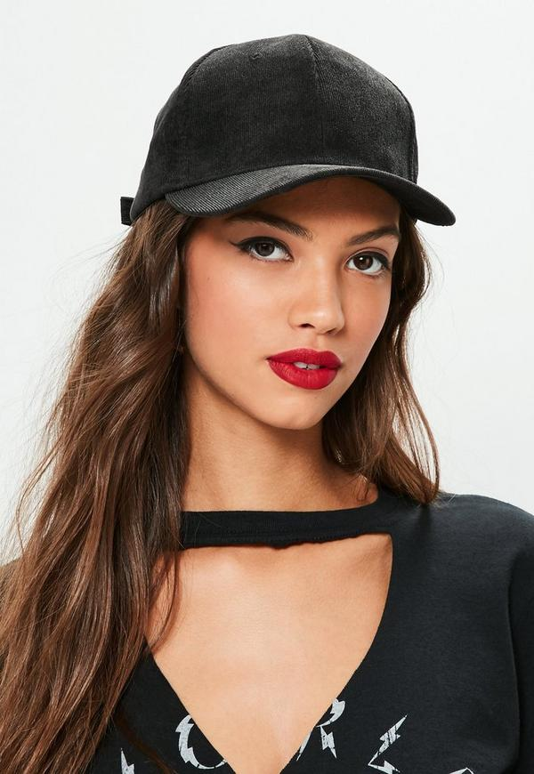 Black Corduroy Cap