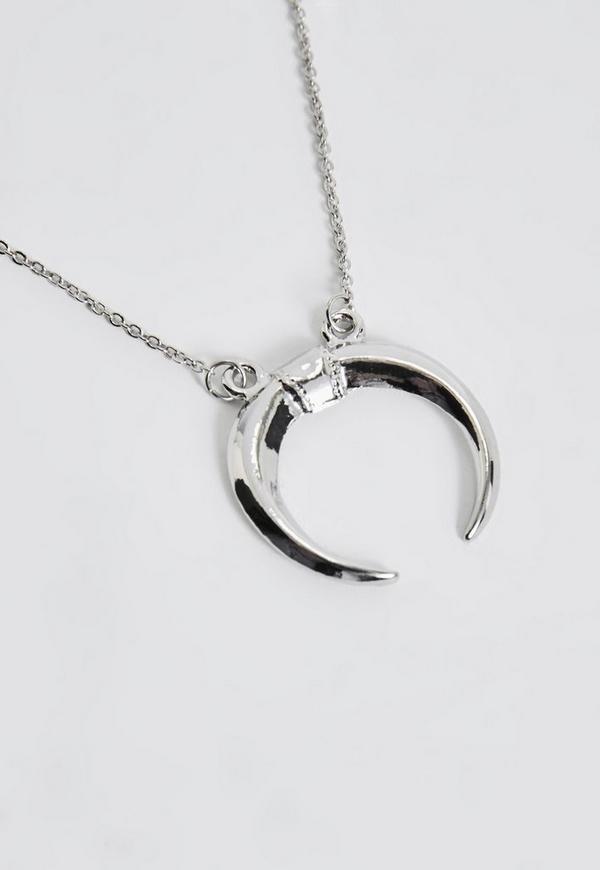Silver crescent moon choker necklace missguided silver crescent moon choker necklace 700 previous next aloadofball Gallery