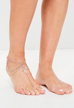 Gold Hamsa Hand Anklet