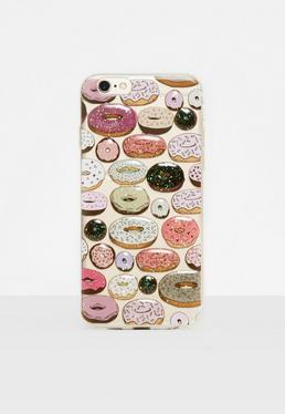 Clear Embossed Doughnuts iPhone 6/6s Case