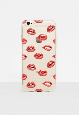 Clear Embossed Lips iPhone 6/6S Case