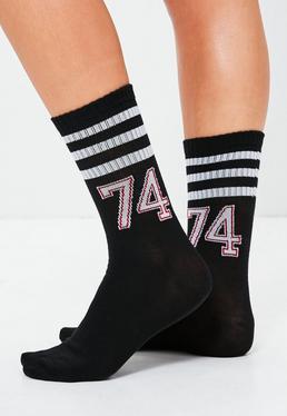 Black Varsity Socks