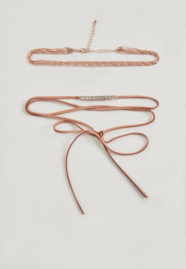 Rose Gold 2 Pack Chokers