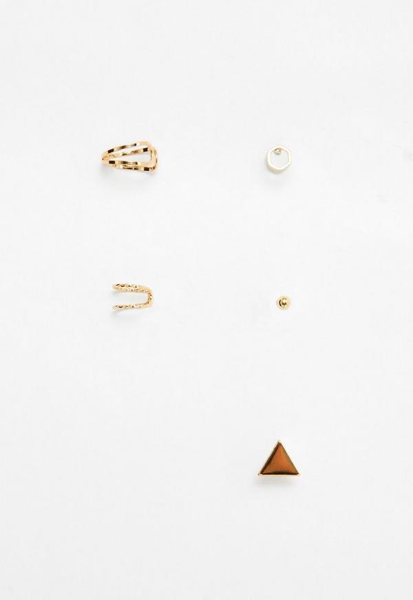 Gold Ear Cuff&Earrings Set