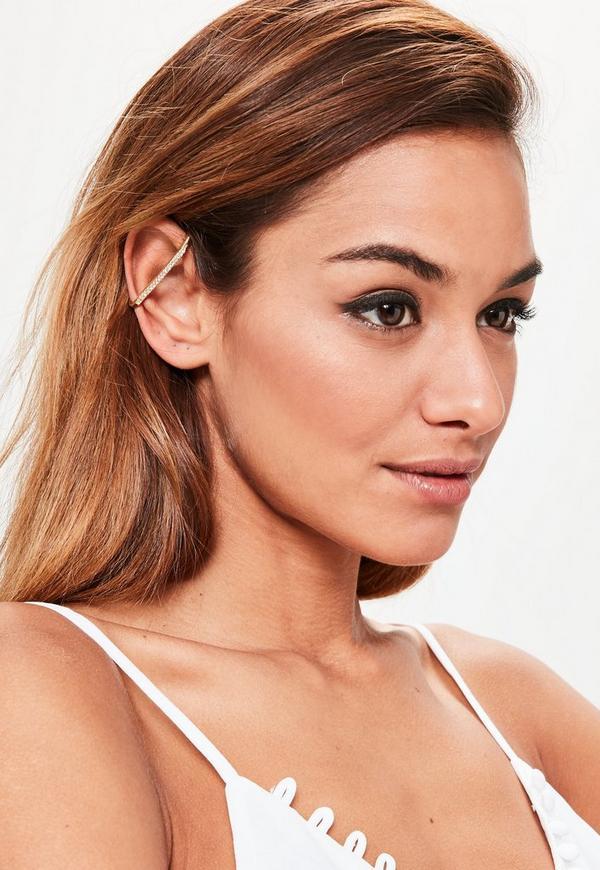 Gold Simple Bar Ear Cuff