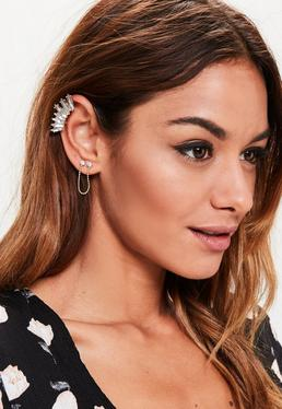 Gold Chain Ear Cuff Set
