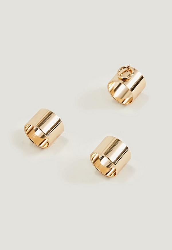 Gold Door Knocker Ring Pack