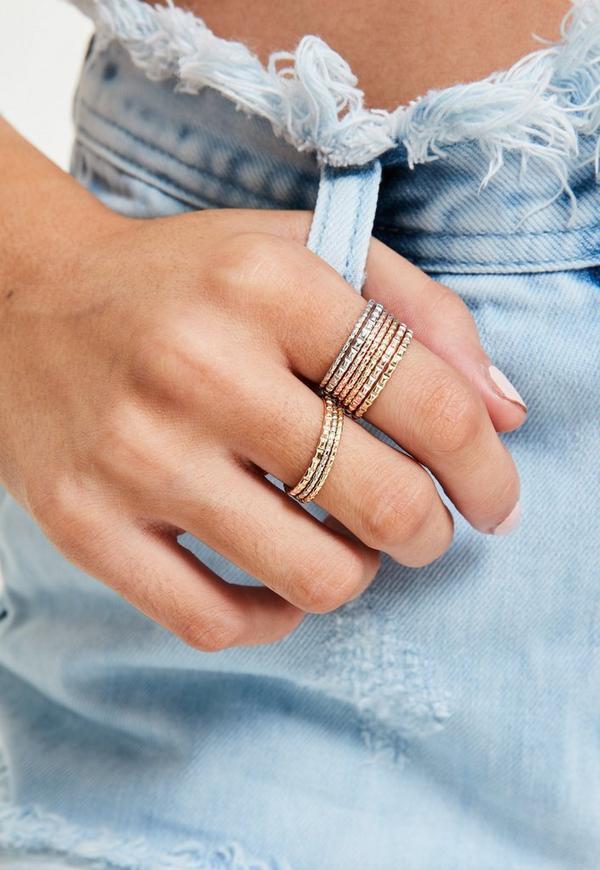 Metallic Ring Set