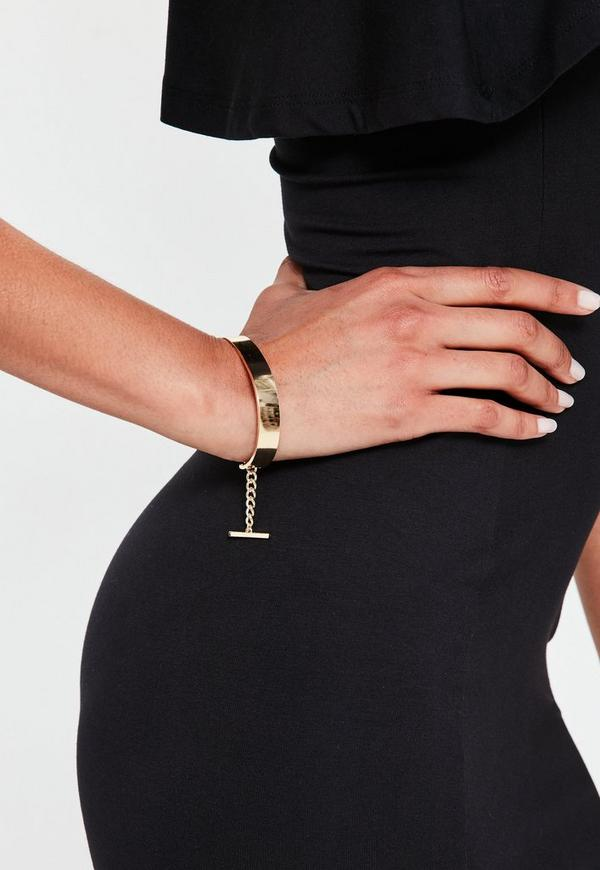 Gold Bar Chain Bracelet