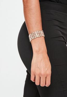 Rose Gold Studded Detail Bracelet