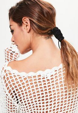 Black Pony Tail Hair Wrap