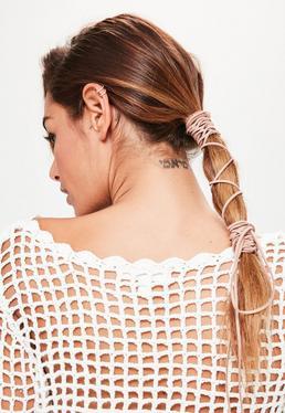 Lacet beige pour les cheveux