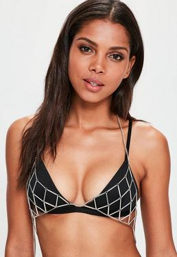 Silver Triangle Simple Bralet
